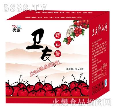 优露卫友野山楂果汁果肉饮料1Lx6瓶