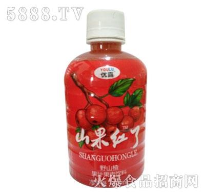 优露卫友野山楂果汁果肉饮料350ml