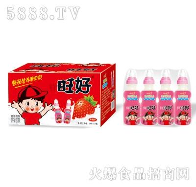 鲜旺好草莓味乳酸菌200mlX24