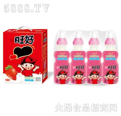 鲜旺好奶嘴瓶草莓味乳酸菌200mlX16