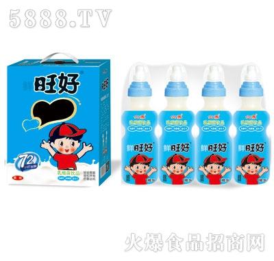 鲜旺好奶嘴瓶原味乳酸菌200mlX16