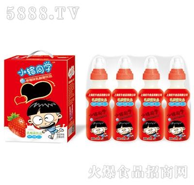 优牛小铭同学奶嘴瓶草莓味乳酸菌200mlX16