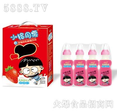 优牛小铭同桌奶嘴瓶草莓味乳酸菌200mlX16