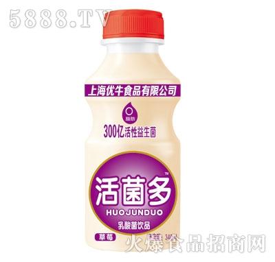 优牛活菌多草莓味乳酸菌饮品340ml
