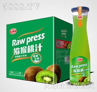 恬润磨砂瓶猕猴桃汁1Lx6瓶
