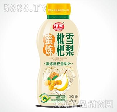恬润塑料瓶枇杷雪梨330ml