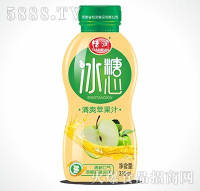 恬润塑料瓶清爽苹果汁330ml