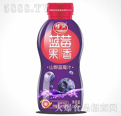 恬润塑料瓶山野蓝莓汁330ml