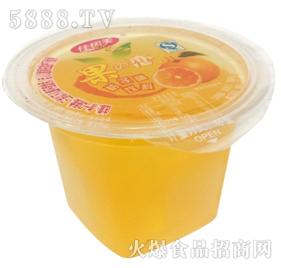 佳因美桔子味饮料产品图