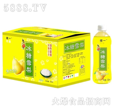 统一印象冰糖雪梨果味饮料500ml(箱)