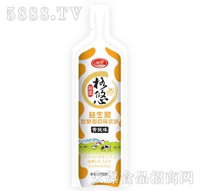 格悠益生菌发酵型奶味饮品黄桃味180ml