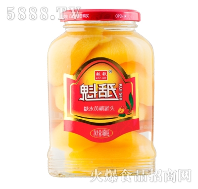 魁舐糖水黄桃罐头460g