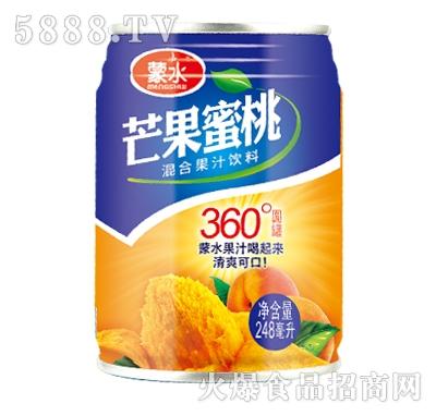蒙水生榨芒果蜜桃汁248ml
