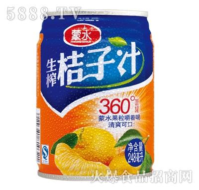 蒙水生榨桔子汁248ml