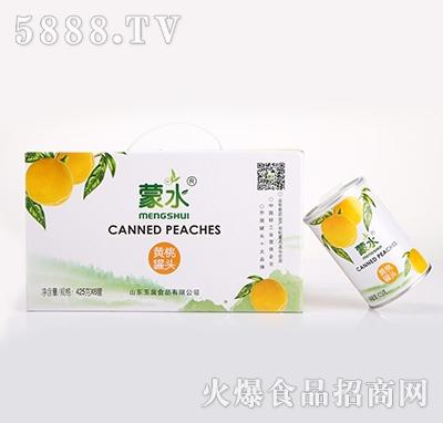 蒙水黄桃罐头6罐装