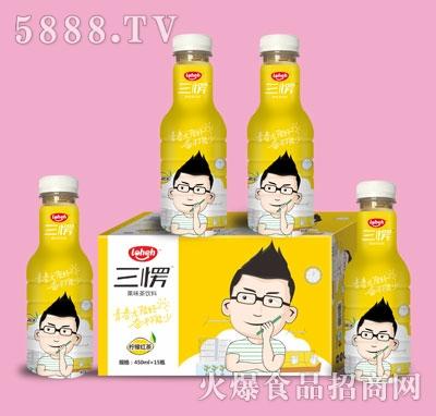 三愣柠檬红茶果味饮料450mlX15瓶