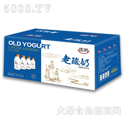 优呦老酸奶发酵酸奶饮品280mlx15瓶
