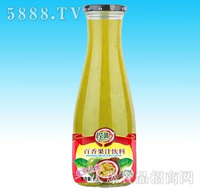 滢沁玻璃瓶1L百香果汁