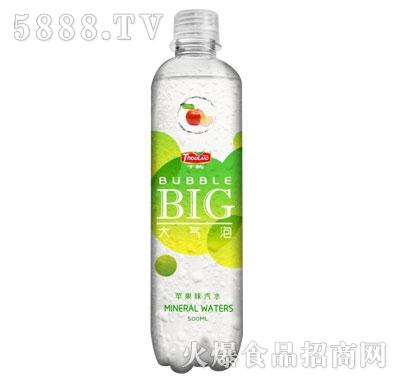 千屿大气泡苹果味汽水500ml