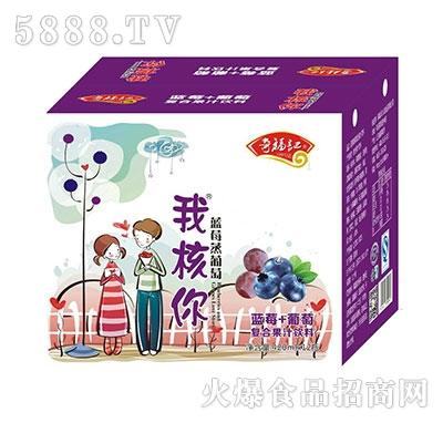 奇福记我核你蓝莓+葡萄汁饮料420mlx12瓶