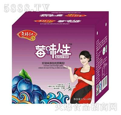 奇福记莓味人生蓝莓汁饮料1.5Lx6瓶