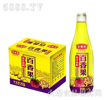 百事得百香果果汁饮料1.25Lx6瓶