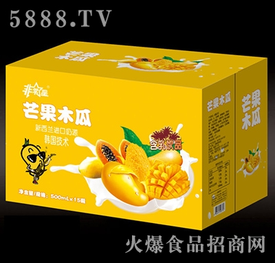 非常星芒果木瓜500mlx15瓶