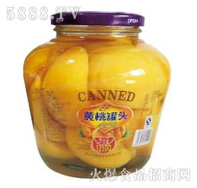 晶海黄桃罐头1250克