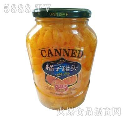 晶海橘子罐头860克