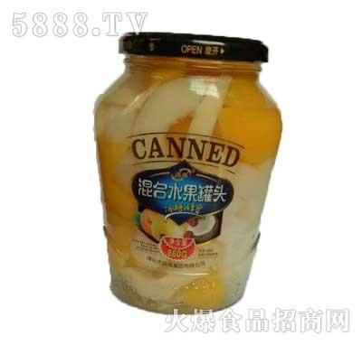 晶海混合水果罐头860克