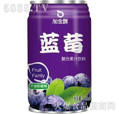 加宝露蓝莓果汁饮料310ml