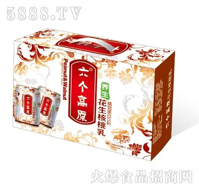六个高原养生花生核桃乳植物蛋白饮料(矮罐红箱)
