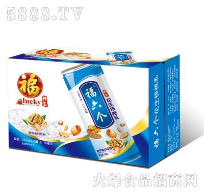 福六个养生花生核桃乳高罐(蓝箱装)