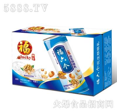 福六个养生花生核桃乳高罐(蓝箱)