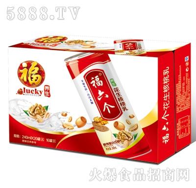 福六个养生花生核桃乳高罐(红箱装)
