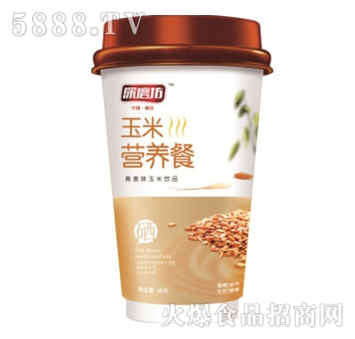 深磨坊玉米营养餐燕麦味(杯)产品图