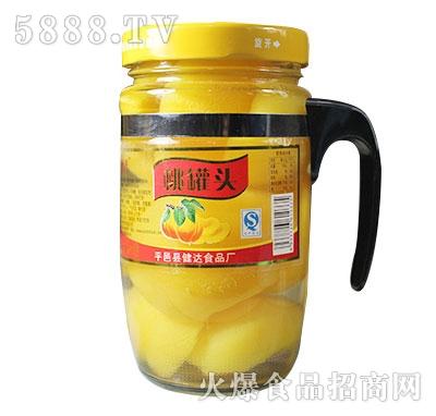 蒙康608g桃罐头