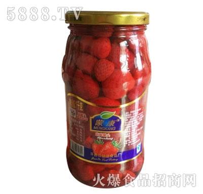 蒙康1kg草莓罐头