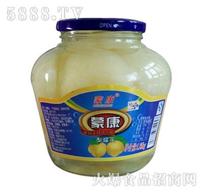 蒙康1.5kg梨水果罐头