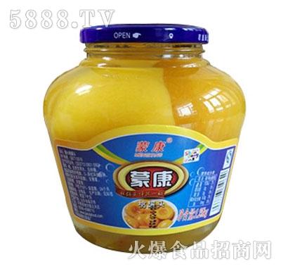 蒙康1.5kg桃水果罐头