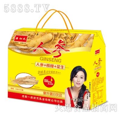 康初元人参+核桃+花生复合蛋白饮品250mlx12盒