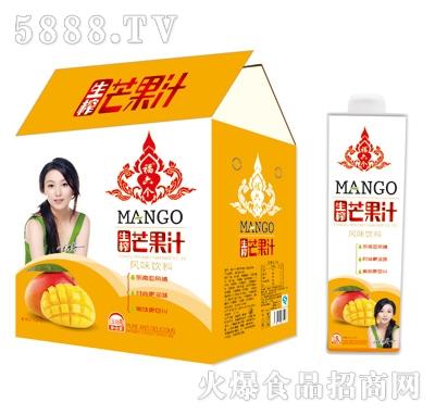 福六个生榨芒果汁1.5Lx6瓶