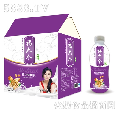 福六个花生核桃乳1.5Lx6瓶