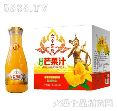 六个高原1.5LX6瓶泰式芒果汁