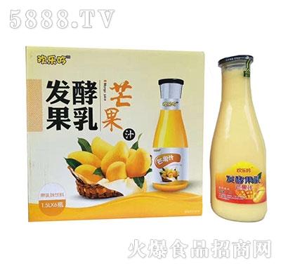 欢乐吟发酵果乳芒果汁1.5Lx6瓶