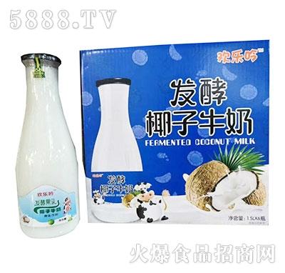欢乐吟发酵椰子牛奶1.5Lx6瓶