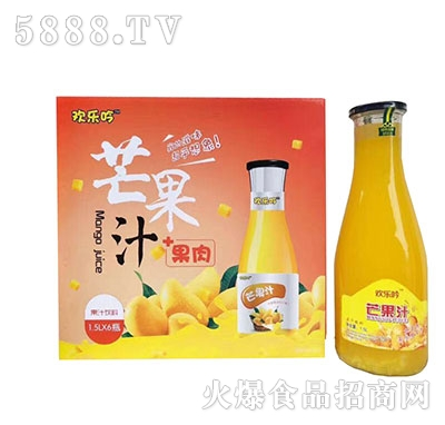 欢乐吟芒果汁1.5Lx6瓶