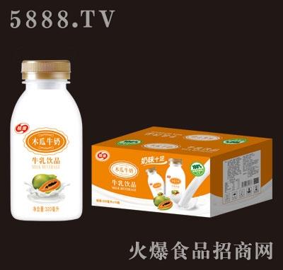 植康木瓜牛奶牛乳饮品320mlX15