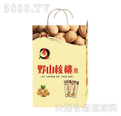 养生野山核桃乳礼品袋产品图
