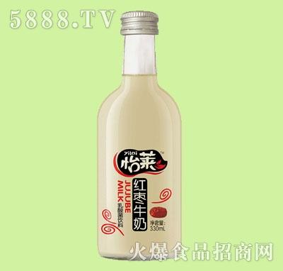 怡莱红枣牛奶330ml果味牛奶
